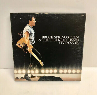 Bruce Springsteen & The E Street Band Live 1975-85 5 LPS In Origional Box w/Book