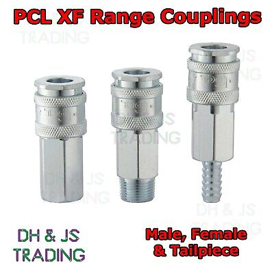 PCL XF Range Couplings - 1/4 1/2 3/8 BSP Airline Air Line Coupling Male Female