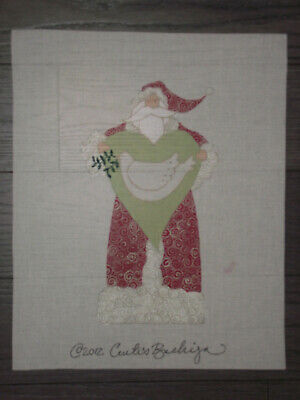 Curtis Boehringer Handpainted Needlepoint Canvas   Turtle Dove Santa    Hp Np