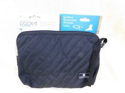 Ds239 Eagle Creek Pack-It System ~ Quilted Reversible Wristlet