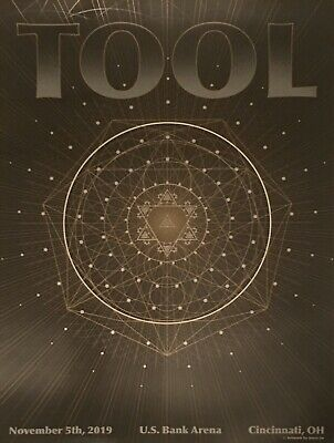 Tool Concert Poster Cincinnati 2019 Tour limited edition Numbered of 650