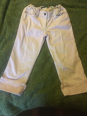 Girls Mini Boden 3/4 Length Trousers Pale Pink 12yrs