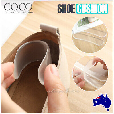 Extra Sticky Silicone Shoe Heel Inserts Insoles Pads Cushion Grips Protector