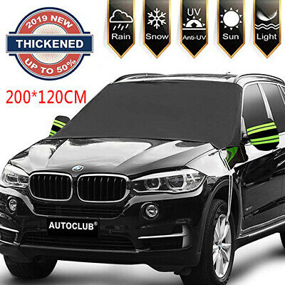 200*120CM Car Windscreen Snow Cover Winter Ice Frost Guard Sun Shade Protector