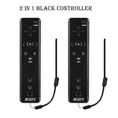 2Pack 2 IN 1Built in Motion Plus Remote Controller For Nintendo Wii Games New