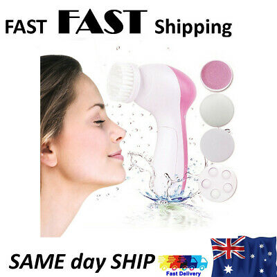 5 in1 Face Cleaner Waterproof Electric Facial Brush Skin Care Cleansing Massager