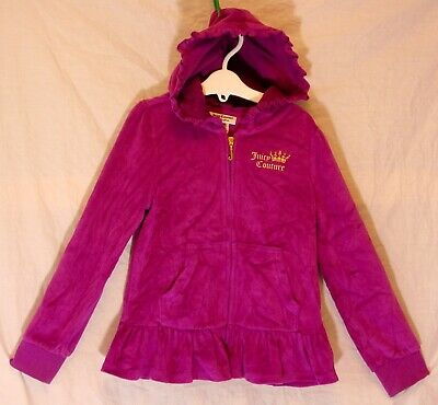 Girls Juicy Couture Pink Velour Velvet Logo 2-Piece Hooded Tracksuit Age 6 Years