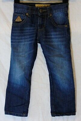 Boys Rock & Revival Blue Whiskered Denim Adjustable Waist Jeans Age 3-4 Years