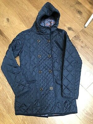 Next Girls Navy Blue Quilted Coat, Age 13-14 Years