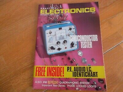 Practical Electronics Oct 1973 Semiconductor Tester Rondo Quad Sound Synthesiser