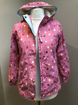 Joules Girls pink Spotty Coat, Age 11-12 Years, Great Condition!