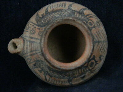 Ancient Large Size Teracota Painted Juglet With Lions Indus Valley 2500 BC PT347