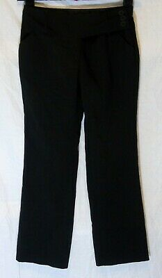 Girls George Black Adjustable Waist Smart Winter School Trousers Age 9-10 Years