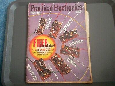 Practical Electronics Oct 1966 Time Switch Direction Indicator Amplifier Logic