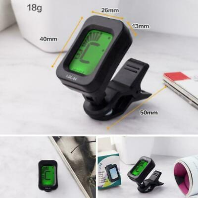 Lcd Clip On Chromatic Acoustic Electric Guitar Bass Banjo Tuner Ukulele F4G4