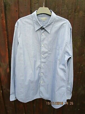 Margaret Howell Blue Cotton Shirt L Wonderful Quality! 5 Day List Only Hurry!