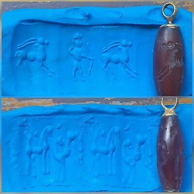Wonderful Sasanian Carnelian Hunter Deer Intaglio Seal Bead Pendant Islamic