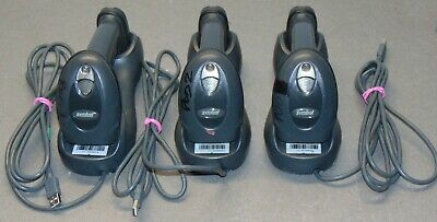 Lot of 3x Motorola Symbol LS4278 Wireless Scanners with Cradles & New Batteries
