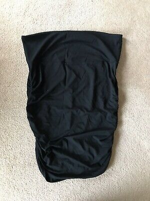 Black Isabella Oliver Maternity Rouched Pencil Skirt Size 4 Approx 14
