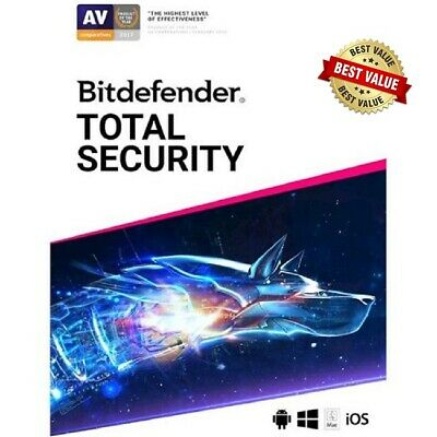 Bitdefender Total Security 2019 / 2 Years/ Windows/ Mac/ Android/ Apple Download