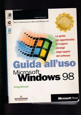 GUIDA computer pc Microsoft USO WINDOWS 98 Craig Stinson con cd-rom