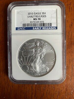 2010 - Silver American Eagle - NGC MS 70 - Early Releases
