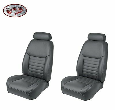 Dark Charcoal Front Bucket Seat Upholstery for 2000 Mustang GT Coupe
