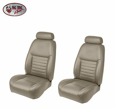 Medium Parchment Front Sport Bucket Seat Upholstery for 2000 Mustang GT Coupe
