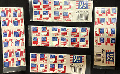 USPS FOREVER STAMPS US FLAG 2018 books of 20 - 100 First Class stamps