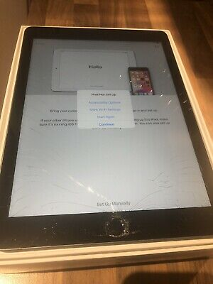 DAMAGED APPLE iPAD 6TH GENERATION 32GB WIFI SPACE GREY A1893 ONLY 3 MONTHS OLD