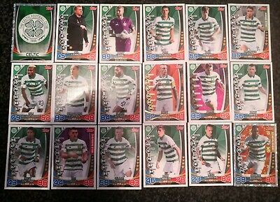 Match Attax Spfl 2019/20 Celtic 18 Card Team Set