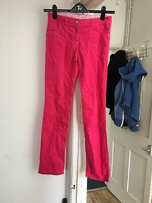 BNWT John Lewis Girls Aged 12 Pink Velvet Feel Trousers Jeans (box 25)