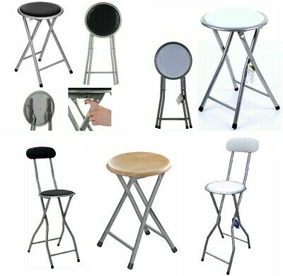 New Folding Breakfast Bar Stool Seat Portable Chair Camping Garden Party Outdoor