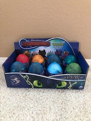 How To Train Your Dragon Egg LEGENDS EVOLVED 8 Plush Baby Light Fury Night CASE
