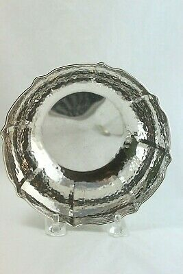 """XeipoΣ, Xeipoe Greek Hand Hammered Sterling Silver Bowl 6 1/8"""" Diameter"""