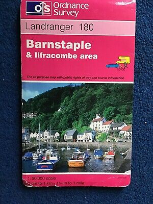 OS Ordnance Survey. Landranger Map Sheet 180 .Barnstaple & Ilfracombe area