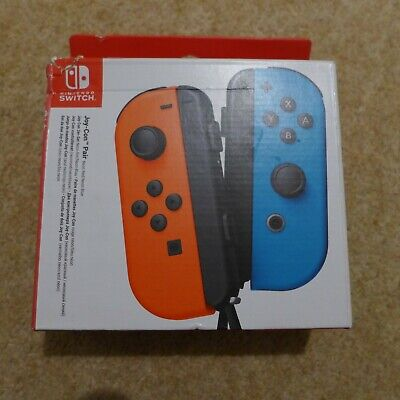 Nintendo Switch Joy-Con Controller Pair / Neon Red & Blue - Genuine