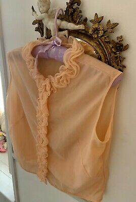 Vintage- Nylon apricot Colured st Michael Top Size Small