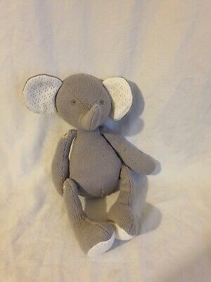 Mothercare Grey Knitted Elephant soft cuddly toy 0615