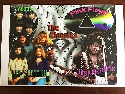 """""""The Beatles,Led-Zeppelin,And...."""". Rare Mint Poster New Art.11 1/2 """"X 17 1/2"""" ."""