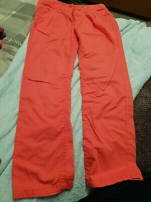 next age 10-11 coral lightweight chino