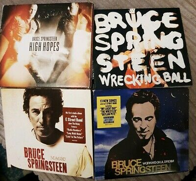 Bruce springsteen 4x CD Albums Lot Wrecking Ball, Magic, Working On A Dream