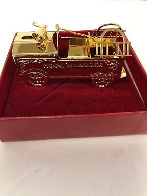 Christmas Ornament Gold Hook And Ladder