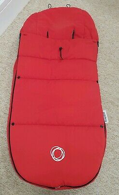 Bugaboo universal red footmuff/cosytoes ADJUSTED PLEASE READ/SEE PHOTOS 008