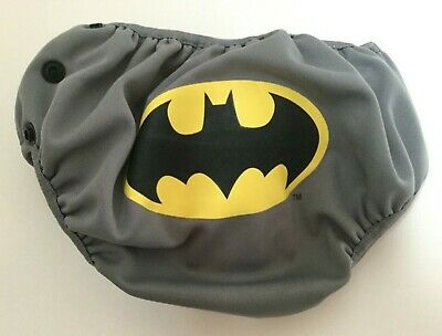 Bumkins Batman Diaper Cover Gray Medium