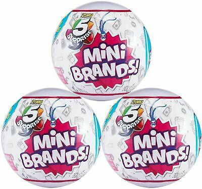 5 Surprise Mini Brands - 3 Balls - Made by Zuri 100% Real  Authentic