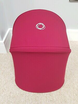 Bugaboo Donkey2 Ruby Red Extendable Hood/sun canopy damaged zip 006