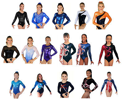 NEW! Child Large In Stock Gymnastics Competition Leotards - 16 to choose from