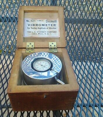 STARRETT Vibrometer in Wooden Box No. 192