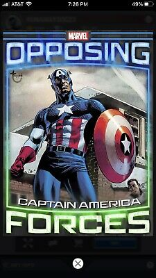 Topps Marvel Collect Opposing Forces Captain America/Red Skull Tilt Digital